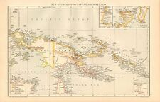1893 ANTIQUE MAP - NEW GUINEA AND THE PAPUAN ARCHIPELAGO