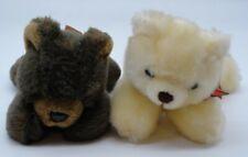 "Bearington Collection RBI 8"" Brown Cream Small Teddy Bears Plush Animal Bonafato"