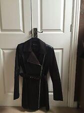 Women's Miss Selfridges biker coat, mac, jacket, coat size uk 10 in black