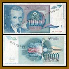 Yugoslavia 1000 Dinara, 1991 P-110 VF-Circulated