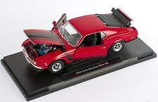 BLITZ VERSAND Ford Mustang BOSS 302 1970 rot red Welly Modell Auto 1:18 NEU OVP
