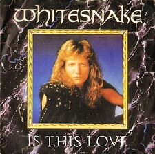 """WHITESNAKE is this love/standing in the shadows EM 3 uk emi 1987 7"""" PS EX/EX"""