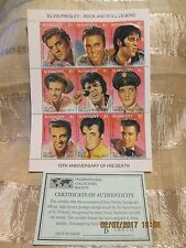 Elvis Presley15th Anniversary of Death Postage Stamp St. Vincent with COA D18670