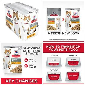Hill's Science Diet Young Adult Wet Cat Food, Neutered Chicken Cat Food pouches,