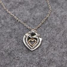 BS Chic Mom Embrace Baby Rhinestone Heart Pendant Necklace Mother's Day Gift