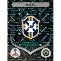 Panini WM 2018 352 Brasilien Brazil World Cup WC 18Wappen Logo Glitzer Foil