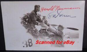 1935 Harold Newman & Louis Greve Signed Original Photo Cleveland Air Race 493