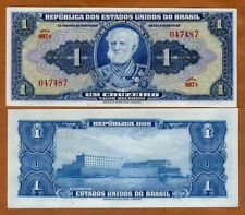 Brazil, 1 cruzeiro (1944) P-132, Hand Signed, Serie 897, UNC > Over 70 years old