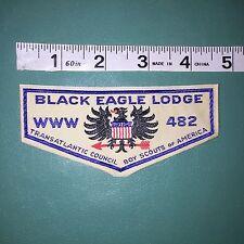 Black Eagle Lodge 482 OA Flap W-1A 110mm Woven Patch