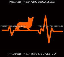 Heart Beat Line Dog Cardigan Welsh Corgi Adoption Rescue Love Car Vinyl Decal