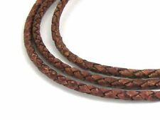 Lederband, 1 m, 3 mm, ziegelrot