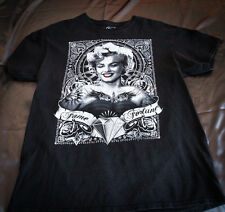 Marilyn Monroe Mens T Shirt Black Fame Fortune Diamonds Size Large