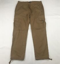 Akademiks Joggers Mens X-Large Camel Brown Cargo Pants