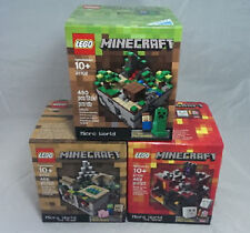 Lego Cuusoo New Sealed 3 Set Lot Nether Village 21102 Rare Minecraft