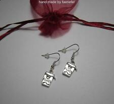 Dental floss charm earrings on silver plated earwires cute gift for a dentist!