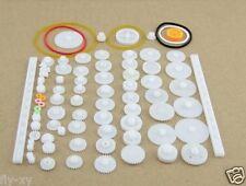 75PCS/lot,Plastic gear,rack, pulley, belt,Worm gear,Single and double gear