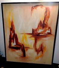 Large Fine Art Oil on Canvas Abstract Landscape painting - Signed by M. Bigolow