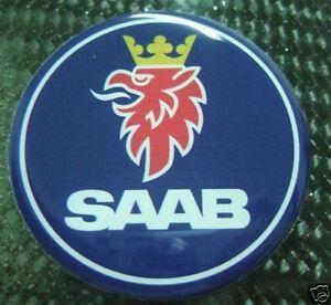 "3d gel 2,5"" Saab Hood badge emblem replacement sticker decal 9-3 93 9-5 95"