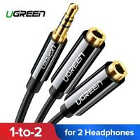 UGREEN 3.5 mm Stereo Audio Y-Splitter 1 Male to 2 Female Cable Adapter Headphone