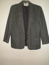 Spitalnick & Company Gray Black Wool Stripe Suit Size 14 Beautiful