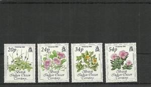 BIOT SG141-144 CHRISTMAS FLOWERS SET MNH