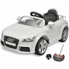 vidaXL Auto Elektrisch Audi TT RS met Afstandsbediening Wit Speelgoedauto
