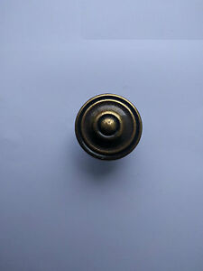 35mm Antique Style Solid Brass Cupboard Knob (57AX)