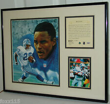 1995 Detroit Lions Barry Sanders Commemorative Lithograph & Photo #1 1/1 See Pic