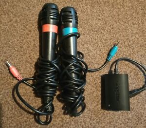 Official Singstar Wired PS2 / PS3 Microphones + Adapter