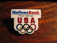 NationsBank Olympic Pin - Vintage Nations Bank USA Olympics Games USA Team Pin