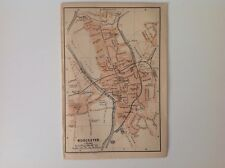 Worcester, Gran Bretaña, 1901 antiguo mapa, Wagner & debes, Atlas