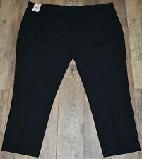 New Men Jacamo Black Plain Trousers Bottom Pants Regular Fit Stretch Size 52S