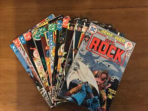 DC Comics SGT Rock 12 Comic Book Lot 1975-1984