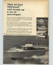1966 PAPER AD 24' Trojan Motor Boat Lancaster PA Sea Breeze Sea Skiff Voyager