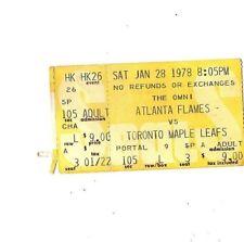 "Atlanta Flames Vs Toronto Maple Leafs ""January 28, 1978"" Ticket Stub ""The Omni"""