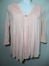 NWT Fever Forever Pink 1 button Open Front Cardigan Size Small 3/4 sleeve