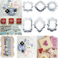 1 Set 4pcs Stainless Steel Cookie Cutter Cake Fondant Frame Biscuit Pastry Mould