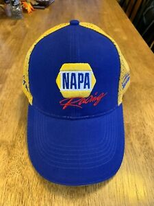 TEAM NAPA RACING HAT/CAP BLUE/YELLOW - ADJUSTABLE