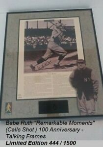 Babe Ruth Remarkable Moments Calls Shot w/ Audio 100 Anniversary Limited Edition