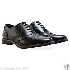 Redfoot in rilievo Oxford CALATA neri stringati da uomo Tg UK 10/EURO 44 RRP £ 140