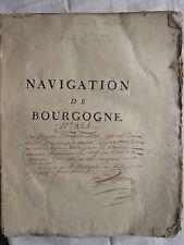 ANTOINE : NAVIGATION DE BOURGOGNE OU MEMOIRES..., 1774. 2 pl., bel envoi auteur.