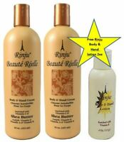 Rinju Beaute Reelle Body & Hand Lotion 16 oz 2 pack with Free Rinju 2oz lotion