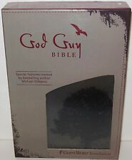 NEW: God Guy Bible Charcoal/ Burgundy/Grunge Tree by Michael DiMarco - FREE S/H