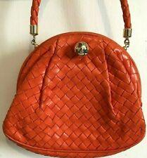 Bottega Veneta Mini Woven Coral Handbag Jeweled Clasp Certificate Made in Italy