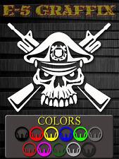 US Coast Guard Skull Cross Rifles Vinyl Decal Special Forces Recon USMC Navy