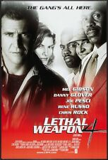 LETHAL WEAPON 4 - 27x40 D/S Original Movie Poster One Sheet Mel Gibson 1998