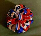Patriotic Puffy Loop Hair Bow