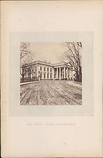 Etats-Unis, Washington, la Maison Blanche  Vintage albumin print Tirage al