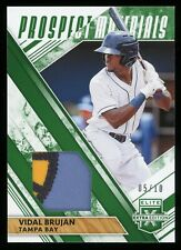 2019 Extra Edition Prospect Emerald Vidal Brujan RC Rookie Worn Patch 5/10 RAYS