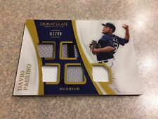 2017 IMMACULATE COLLECTION DAVID PAULINO 5 SWATCH GAME USED PATCH #D /99 ASTROS
